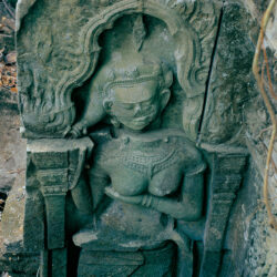 Statue of a Goddess with Advancing Delamination (Beng Mealea, Cambodia)