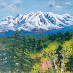 Daisetsu Mountain Range in Early Spring